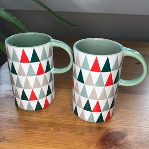 Set of Starbucks mugs stoneware / print